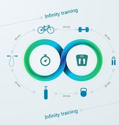 infographic for training with Mobius stripe vector image