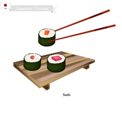Japanese Sushi Roll A Famous Dish in Japan vector