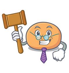 Judge mochi mascot cartoon style vector