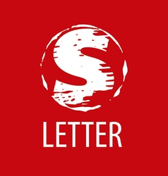 Logo letter s in the form of a stamp vector