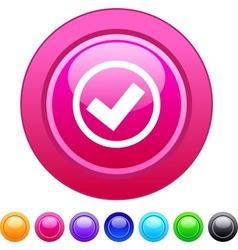 Mark circle button vector