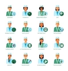 Medical Professions Avatars Set vector