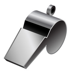 Metal whistle mockup realistic style vector