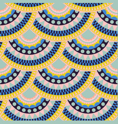mexican abstract colorful seamless pattern vector image