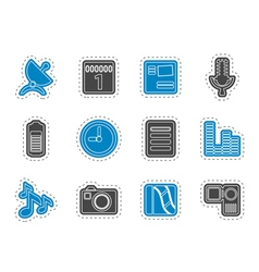 Mobile phone performance icons vector image