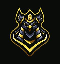 Owl king pharaoh vector