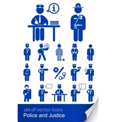 Police and justice vector