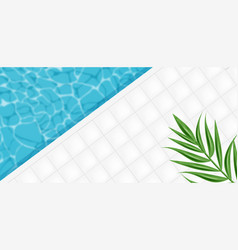 pool abstract background realistic 3d vector image