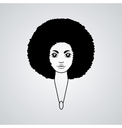 Portrait of a woman with luxuriant hair vector