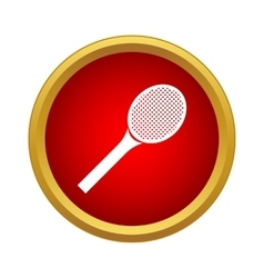 Professional racket tennis icon simple style vector