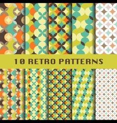 Retro geometric patterns set vector