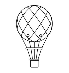 Retro helium air balloon icon outline style vector