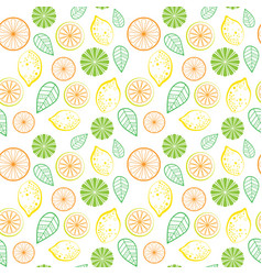 seamless pattern floral leaves tropical summer vector image
