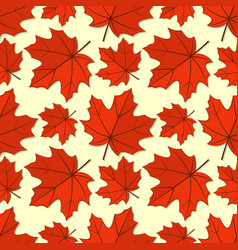 seamless pattern with maple autumn leaves vector image