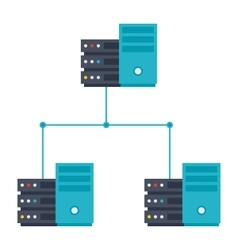 server network icon vector image