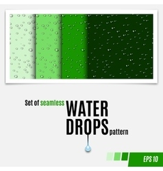 Set of water transparent drops seamless pattern vector
