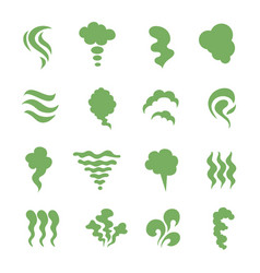 Smell icons steaming stench vapor and cooking vector