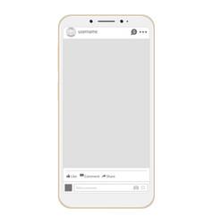 social page profile web interface vector image