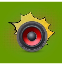 Speaker on pop-art background vector
