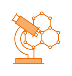 structure molecular with microscope vector image