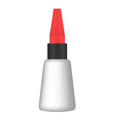 super glue icon realistic style vector image
