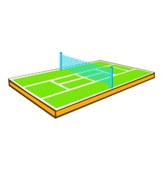 Tennis court icon cartoon style vector image