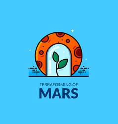 terraforming of mars vector image