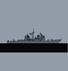 Us navy ticonderoga class guided missile cruiser vector