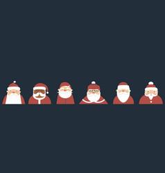 Various santa claus characters vector