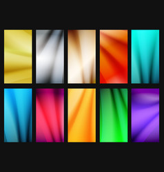 vibrant simple background set vector image