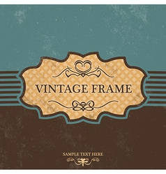 Vintage Label Design with Retro Background vector image