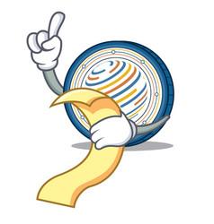 With menu factom coin mascot cartoon vector