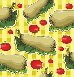Zucchini background pattern vector