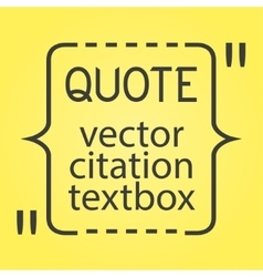 Citation text box Frame for decoration quote and vector image