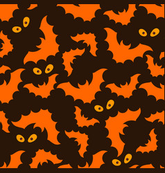 halloween pattern with bats and eyes vector image vector image