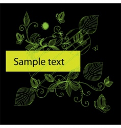 modern nature background vector image