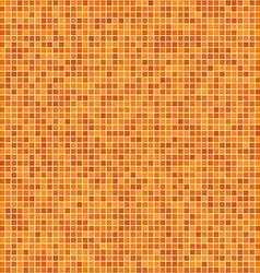 Orange pixel mosaic background vector