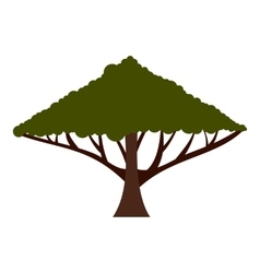 Tree with large crown icon flat style vector image vector image