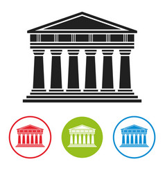 bank courthouse parthenon architecture icon vector image vector image