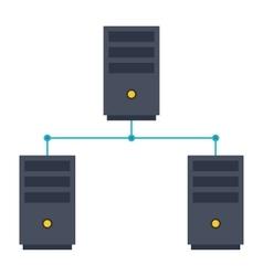 Computer Network Icon vector image vector image