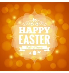 easter card lights background vector image vector image