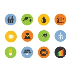 energy icon set vector image vector image
