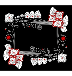 flower black background vector image vector image