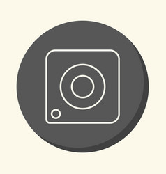 image of the camera a round line icon with vector image