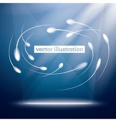 Neon circle background vector