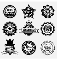 Set of premium quality labels vector image