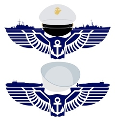 The icons of the US Navy vector image
