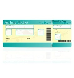 airline ticket 01 vector image vector image