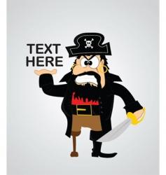 Cartoon pirate vector
