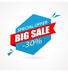 Discount 30 percent off - advertising vector image